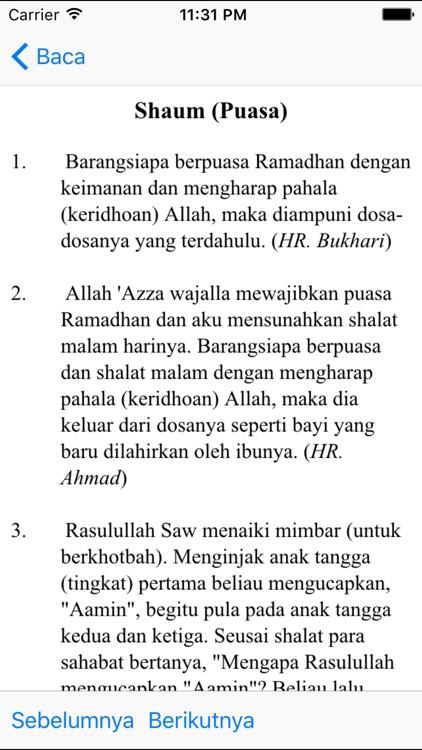 Hadith Pack - English Indonesia screenshot-3