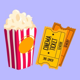 Cinema Stickers - Popcorn, Movie tickets and more