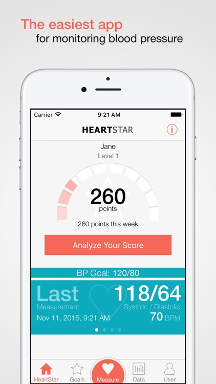 HeartStar Blood Pressure Monitor screenshot-0