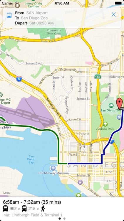 Transit Tracker - San Diego (MTS) screenshot-3