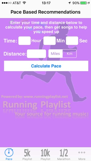 Running Playlist And Pace Calculator On The App Store