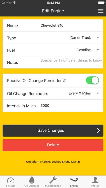 Engine Buddy - Oil Changes and Auto Records screenshot-3
