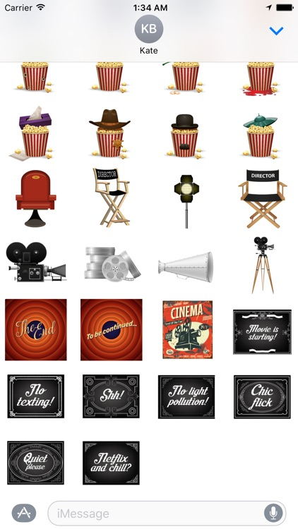 Movie Theater Stickers