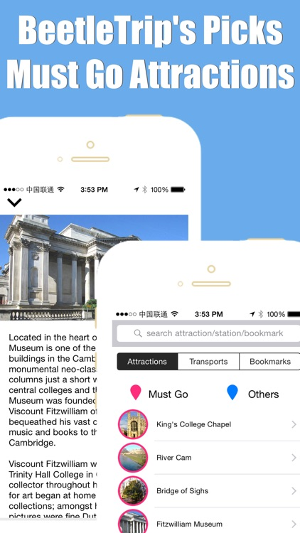 Cambridge travel guide and metro offline city map by Beetletrip Augmented Reality screenshot-3