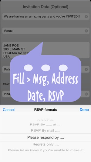 Party invitation cards maker free on the app store iphone screenshots stopboris Image collections