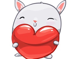 BunnyBun the iMessage sticker pack