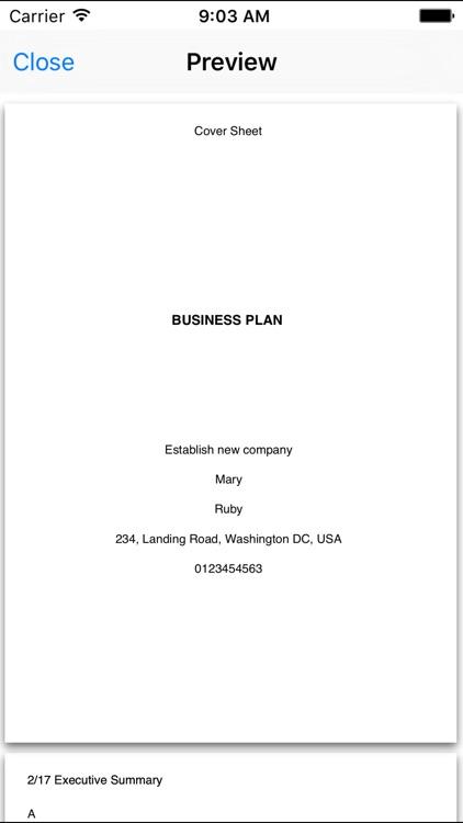 Business Plan Writer screenshot-3