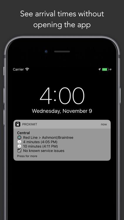 ProximiT - Boston MBTA Tracker for Bus and Subway screenshot-4