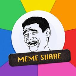 Meme Share : Post & Create Custom Meme Sticker
