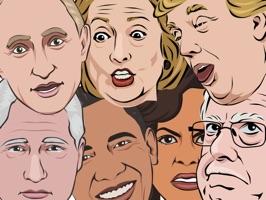 Celebmoji Politics Stickers–Trump, Clinton, Obama