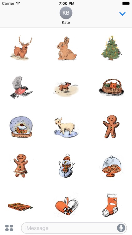 Christmas Illustrated Sticker Pack