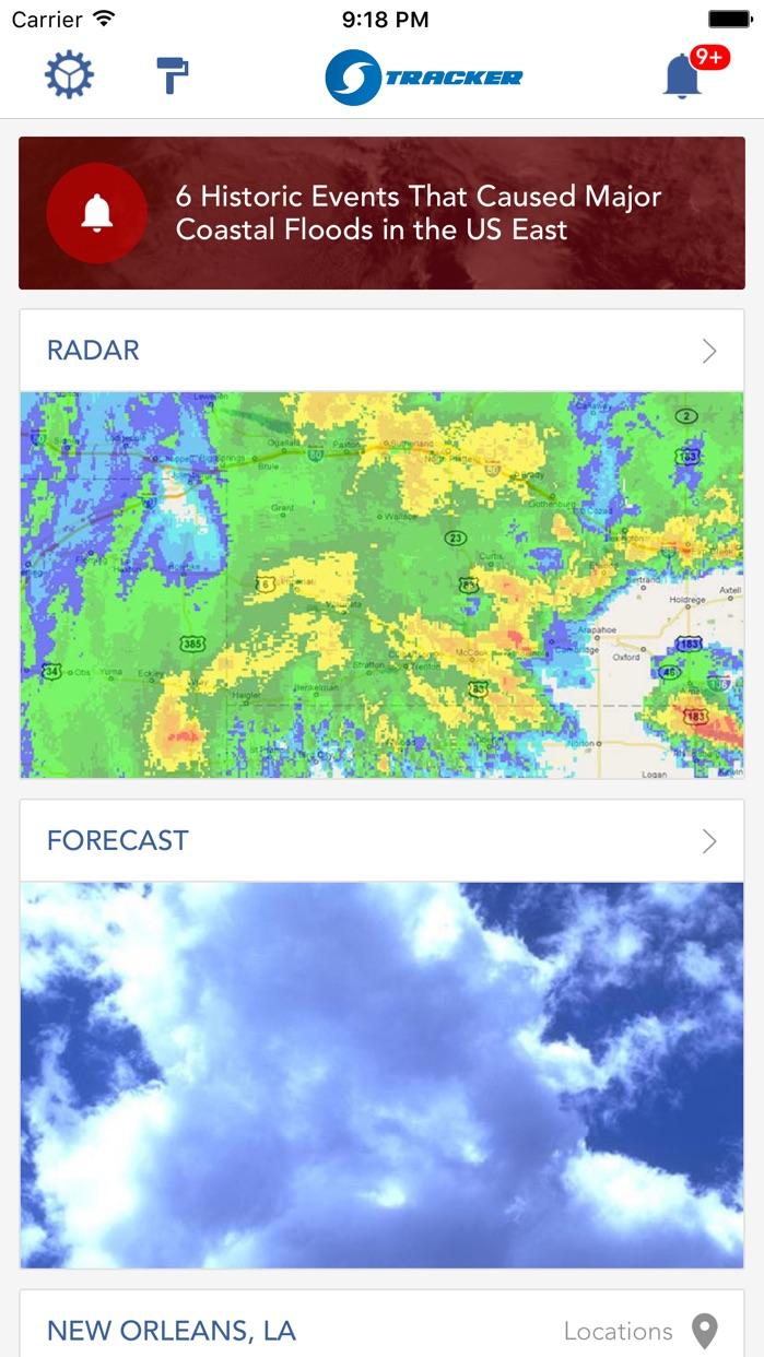 Hurricane Tracker Forecast Typhoon Cyclone Monitor Screenshot