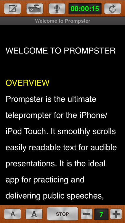 Prompster Pro™ - Teleprompter screenshot-4