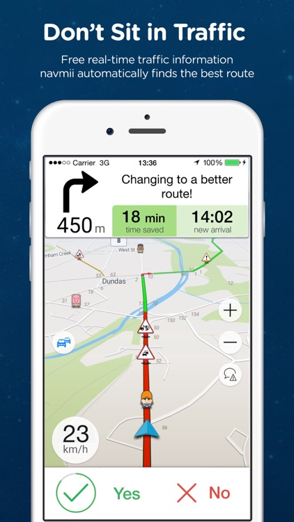 Navmii GPS Canada: Offline Navigation and Traffic screenshot-1