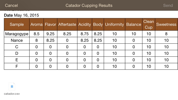 Catador Cupping app image