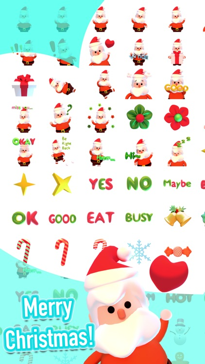 Santa! Cute 3D Emoji and Text Stickers for iMessag