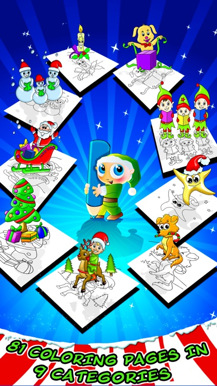 Christmas Coloring Book - Kids Color & Paint App