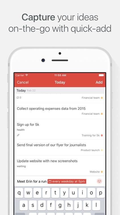 Todoist: Todo List for Organizing Work and Errands screenshot-3