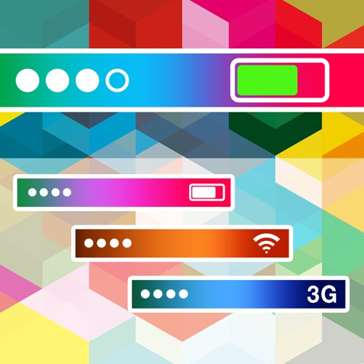 Pimp My Status Bar - Custom Top Bar Wallpapers and Colorful Backgrounds for Home Screen & Lock Screen