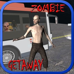 Bus driving getaway on Zombie highway apocalypse