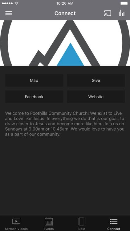 Foothills Community Church App