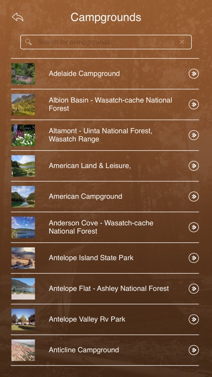 Utah Campgrounds and RV Parks
