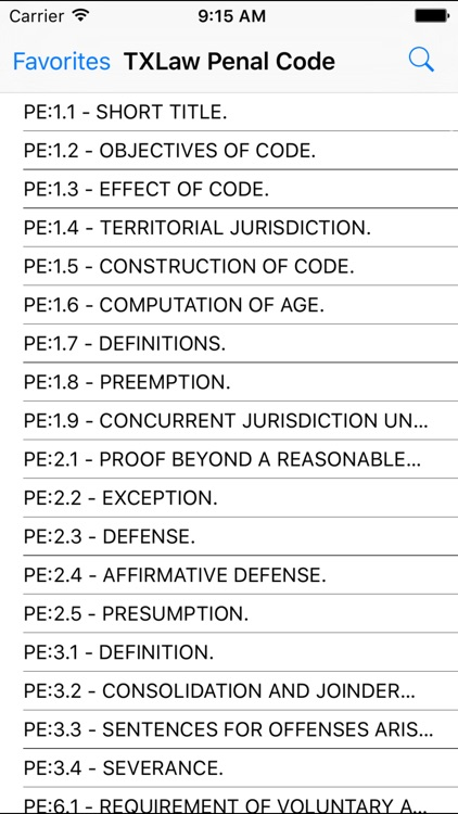 TXLaw Penal Code screenshot-1