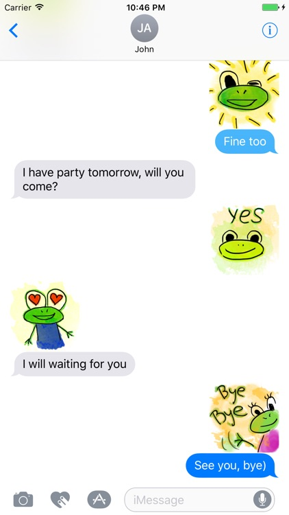 Funny Frogs Stickers screenshot-1