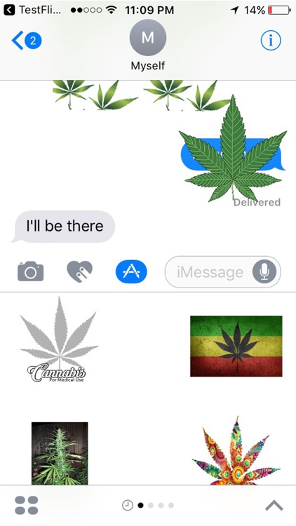 Weed Stickers for iMessage