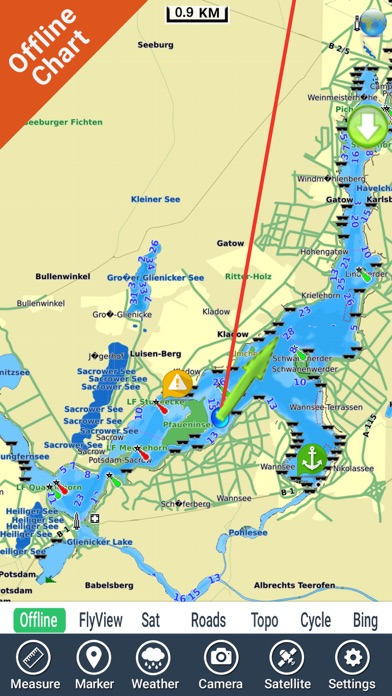 Berlin lakes hd gps fishing chart app data review for Fishing gps apps