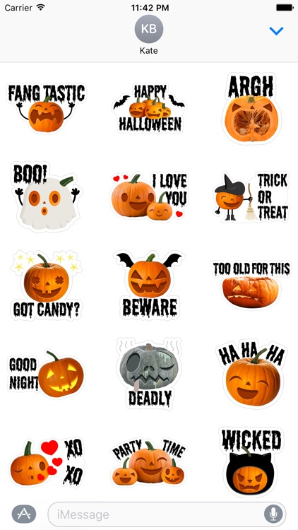 Crazy Pumpkin - Halloween Stickers for iMessage