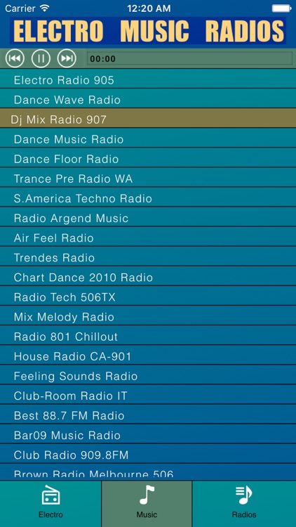 electro music radios