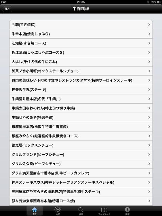 東京五つ星の肉料理 for iPad screenshot-3