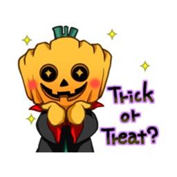 Pumpkin Man Halloween Sticker