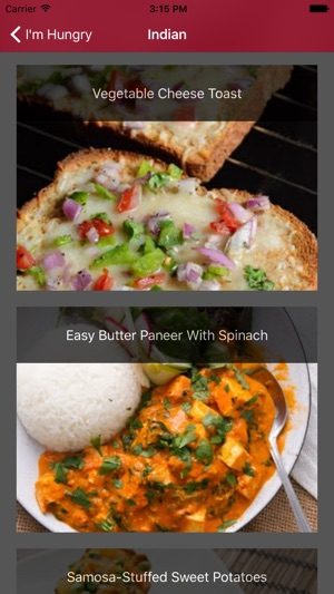 Im hungry vegetarian recipes on the app store forumfinder Images