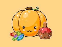 CreativeStickrs presents Jane's Kawaii Halloween for iMessage Stickers