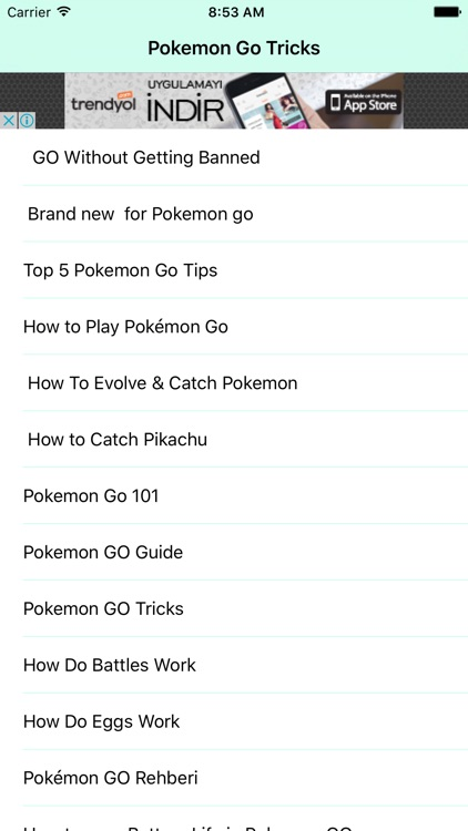 Guide and cheat for Pokemon Go