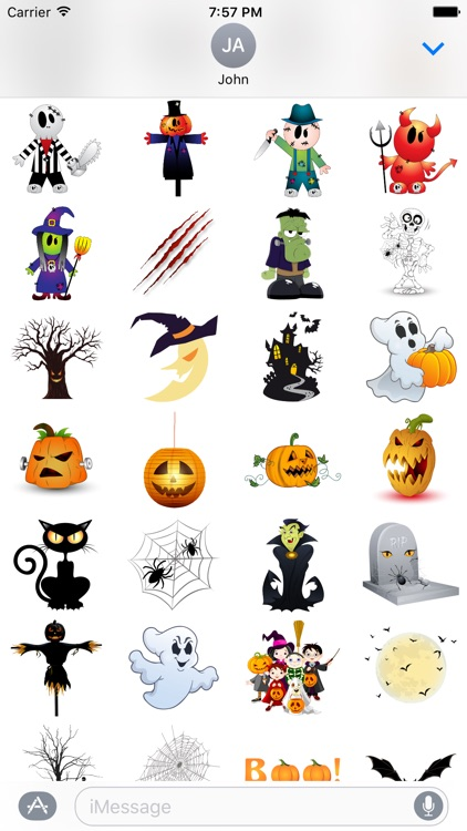 Halloween BOO! Scary Stickers for iMessage