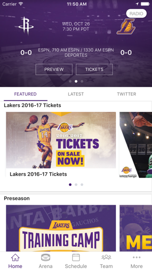 detailed look 721bd e3d92 LA Lakers Official App on the App Store