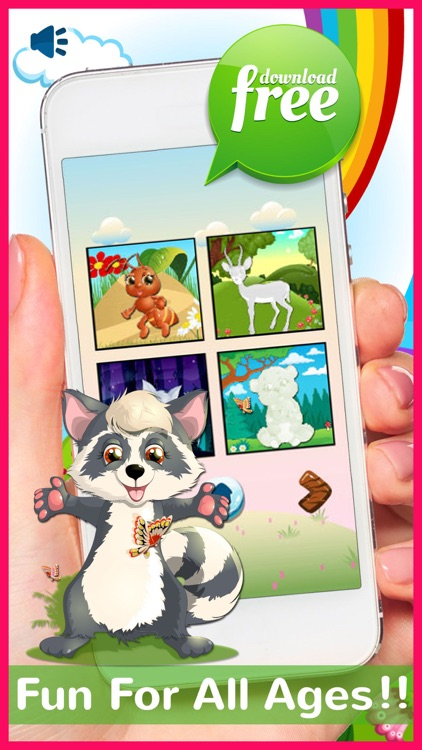 Chibi Animals Phonics Jigsaw Puzzle Games For Kids
