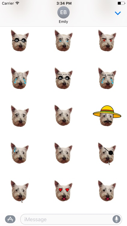 Snowy the Pupper Stickers for iMessage