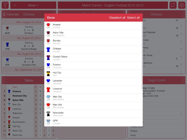 English Football 2014-2015 - Match Centre screenshot-3