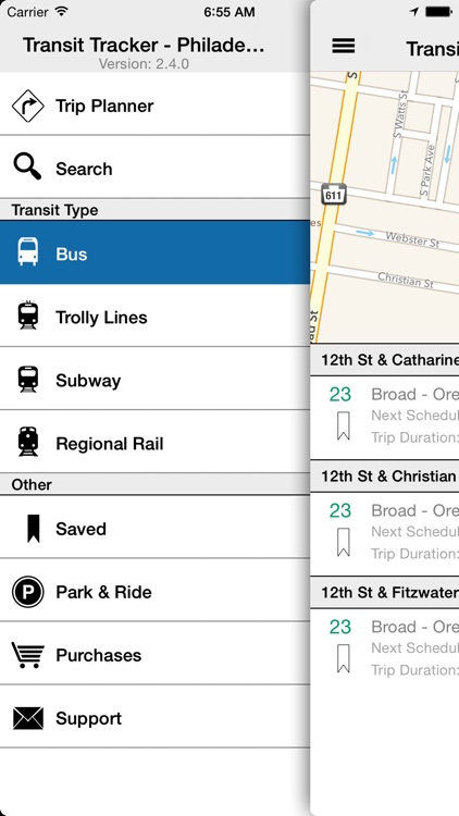 Transit Tracker - Philadelphia (SEPTA) screenshot-1