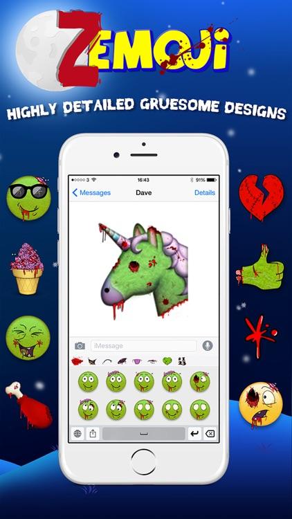 Zemoji Zombie Emoji - Halloween iMessage Stickers