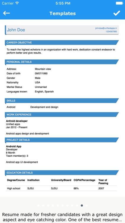 Make My Resume screenshot-3