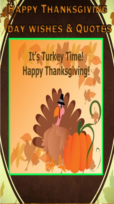 Thanksgiving Day Wishes Card - Quotes & Message screenshot two