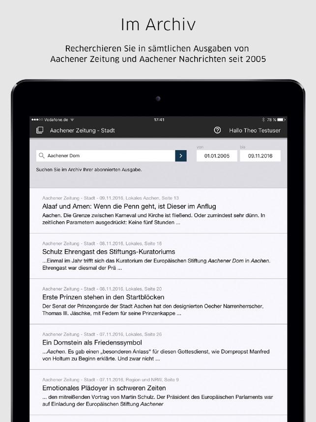 Aachener nachrichten anzeigen online dating