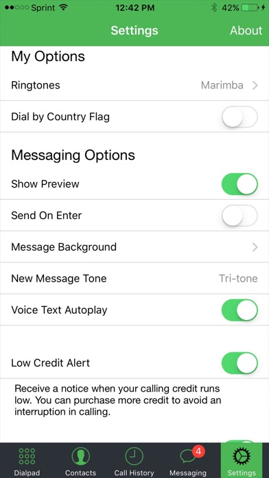 MilliTalk - Call and Text over Wi-Fi/3G/4G/LTE app image