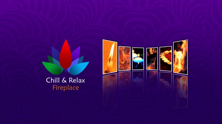 Chill & Relax TV Fireplace: Fire & Candle HD Video