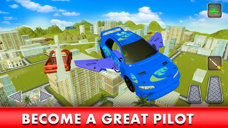 Flying Racing Car Simulator: Futuristic Airplay